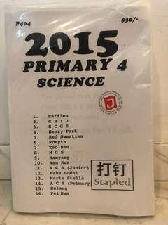 2015 Primary 4 Science Examination paper