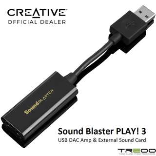 Creative Sound Blaster PLAY! 3 USB DAC Amp and External Sound Card