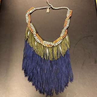 Joomi Lin tassel with crystal necklace