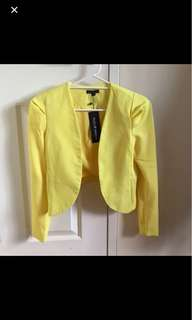 Yellow blazer - XS