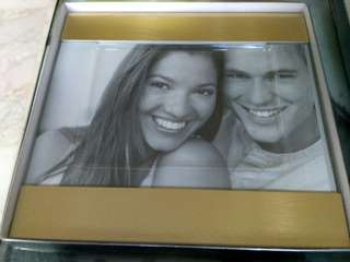 Gold and silver metallic photo frame