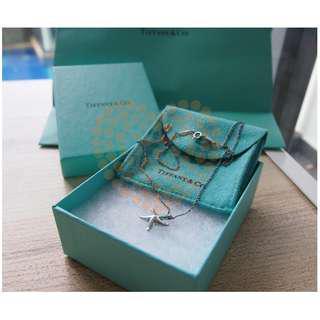 Authentic Tiffany & Co Elsa Peretti starfish pendant and chain