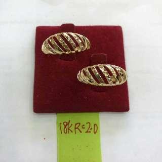 18k saudi gold ladies ring