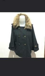 Jacket bulu abu2