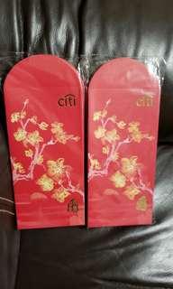 全新 Citi 紅色花開富貴利是封2包 (共50個)