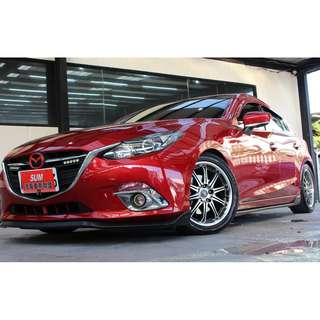 2015 Mazda 馬3 5D 紅色 2.0