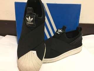 🚚 Adidas Superstar Slip On W女鞋繃帶運動休閒鞋