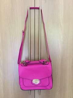 Bright Pink Sling bag