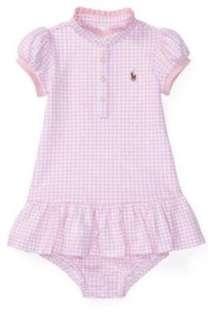🚚 現貨 正品Polo Ralph Lauren 粉紅格紋立領上衣洋裝