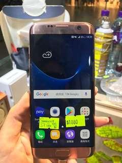 Samsung S7 Edge 95%新 玫瑰金,一年店舖保養