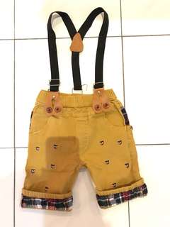 Boy pant with suspender