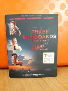 USA Blu Ray Slipcase - Three Billboards Outside Ebbing Missouri
