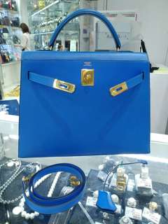 Hermes kelly 32 france blue