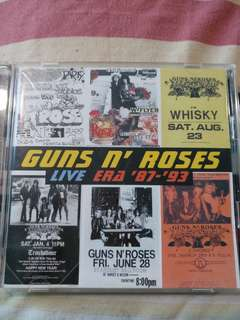 Rock CD - Rare Japan Press Guns N' Roses Live Era '87-'93 2CD. Bonus track