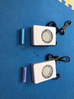 共田 電風扇 充電手提 掛頸風扇 W910 兩部