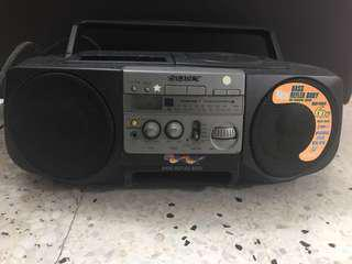 CD player , cassette and radio