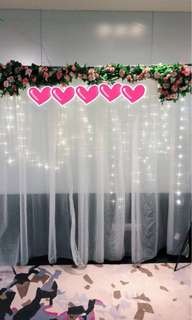 Off-white Photobooth Backdrop Cloth (All 3 pieces for $14)