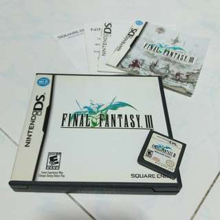 Final Fantasy 3 nintendo DS