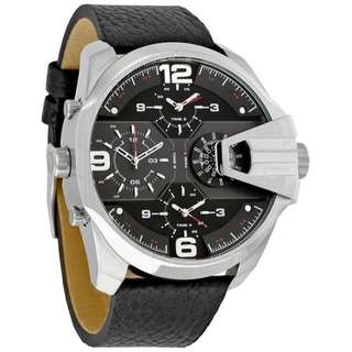 UBER CHIEF BLACK DIAL BLACK LEATHER MEN'S WATCH DZ7376