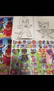 🚚 Instock Pj mask A4 Coloring And Stickers book brand new bulk purchase pls pm me