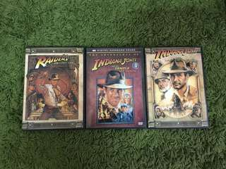 DVD Indiana Jones 1.2.3