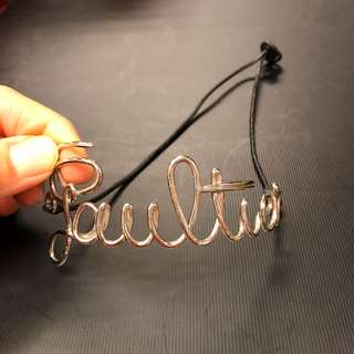 Jean Paul Gaultier words chocker necklace