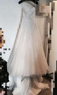 Ivoire 牌子 拖尾 婚紗 wedding dress gown