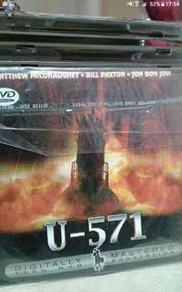 Vcd Vcd sale Buy 2 get 1 free!  English  U-571 When a German U-571 submarine with a sophisticated encryption machine onboard is sunk during a World War II battle at sea, the Allies send an American Navy