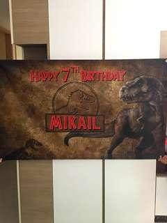 Personalised PVC Banner Dinosaur Theme