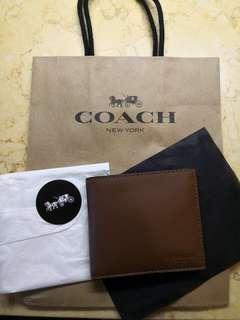 Coach 真皮銀包(罕有含散紙格)