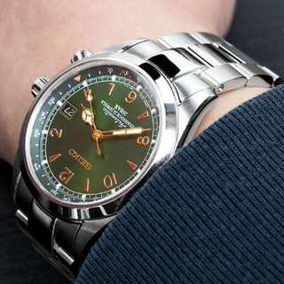 V. Good Condition Oyster Bracelet for Seiko Alpinist Brushed-Polished with Submariner Clasp