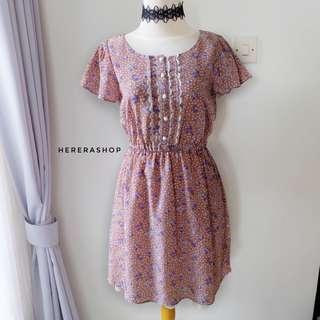 PL82 Dress Bunga Lucu