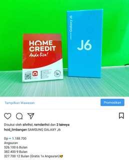 Kredit handphone Samsung j6