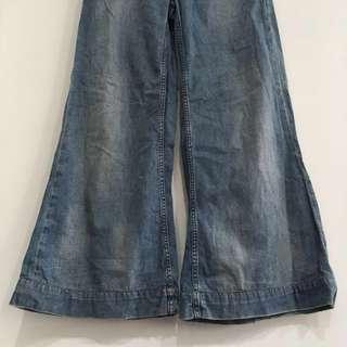 🚚 Ralph Lauren Polo 牛仔古著寬褲 喇叭褲