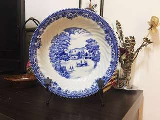 Old English Porcelain Beautiful Plate