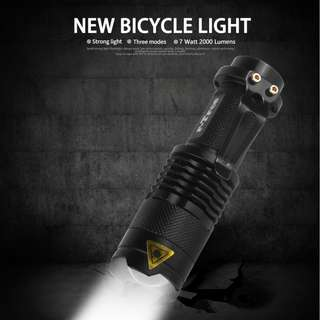 🚚 Bicycle Front Light #Powerful #Bright #3 mode light #Waterproof #360 deg