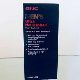 💥男士配方/特強滋養頭髮💥GNC MEN'S Ultra NourishHair (120粒) 2個月量