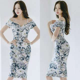 Vienne V Neck Flower Midi Dress (Pre Order)