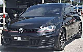 SAMBUNG BAYAR/CONTINUE LOAN  VW GOLF MK7 GTI 2.0 AUTO YEAR 2013 MONTHLY RM 2500 BALANCE 4 YEARS + ROADTAX AUGUST 2018 MILEAGE LOW TIPTOP CONDITION  DP KLIK wasap.my/60133524312/mk7