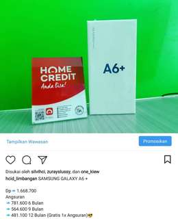 Kredit handphone A6 Plus