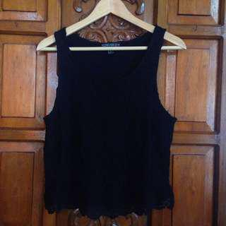 Brand New Forever 21 Plus Size Black Lace Sleeveless Top