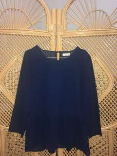 Navy Blouse