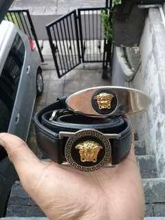 Gianni Versace MEDUSA Men's Leather Belts Italy AUTHENTIC Vintage Luxury Retro