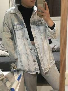 Oversized Denim Jacket / Washed Blue