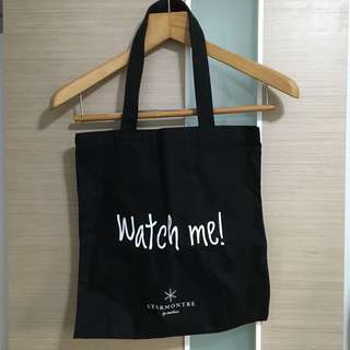 Watch Me! Star Montre by Starluxe Tote Bag 環保袋 (黑色)