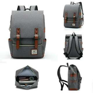 Premium Retro canvas backpack size L