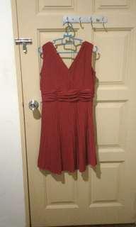Red dinner dress #July70