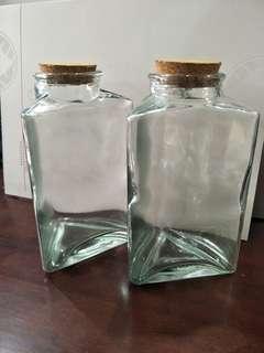 Triangle Glass Jar