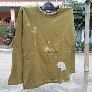 Baju Darbost Asli Original Lengan Panjang Katun Warna Hijau Olive