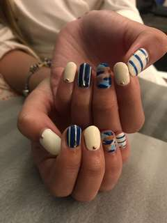Gelish nail art design @$25